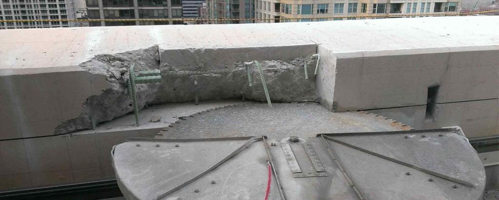 concrete wall sawing